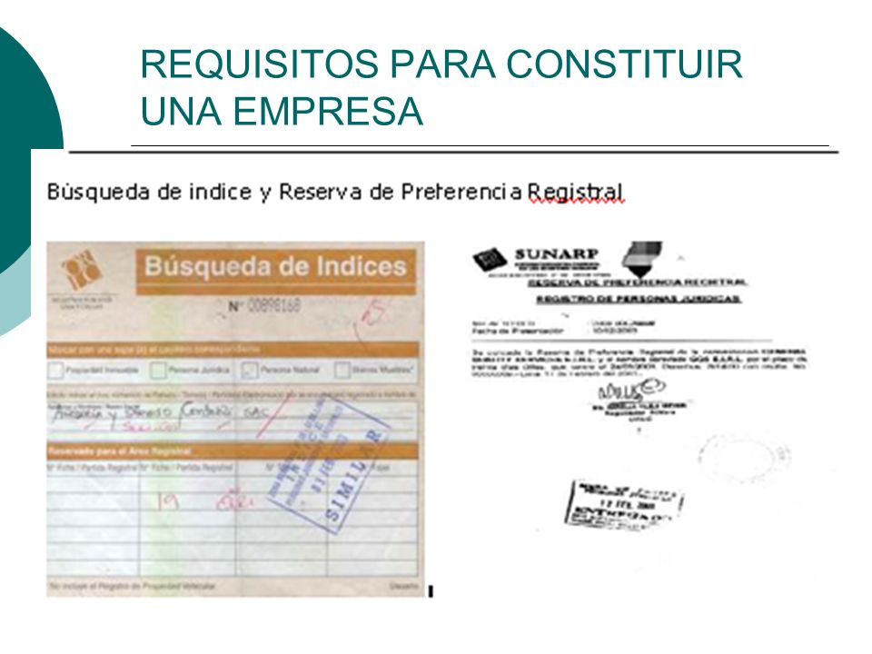 REQUISITOS PARA CONSTITUIR UNA EMPRESA