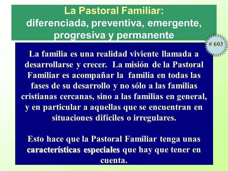 La Pastoral Familiar: diferenciada, preventiva, emergente, progresiva y permanente