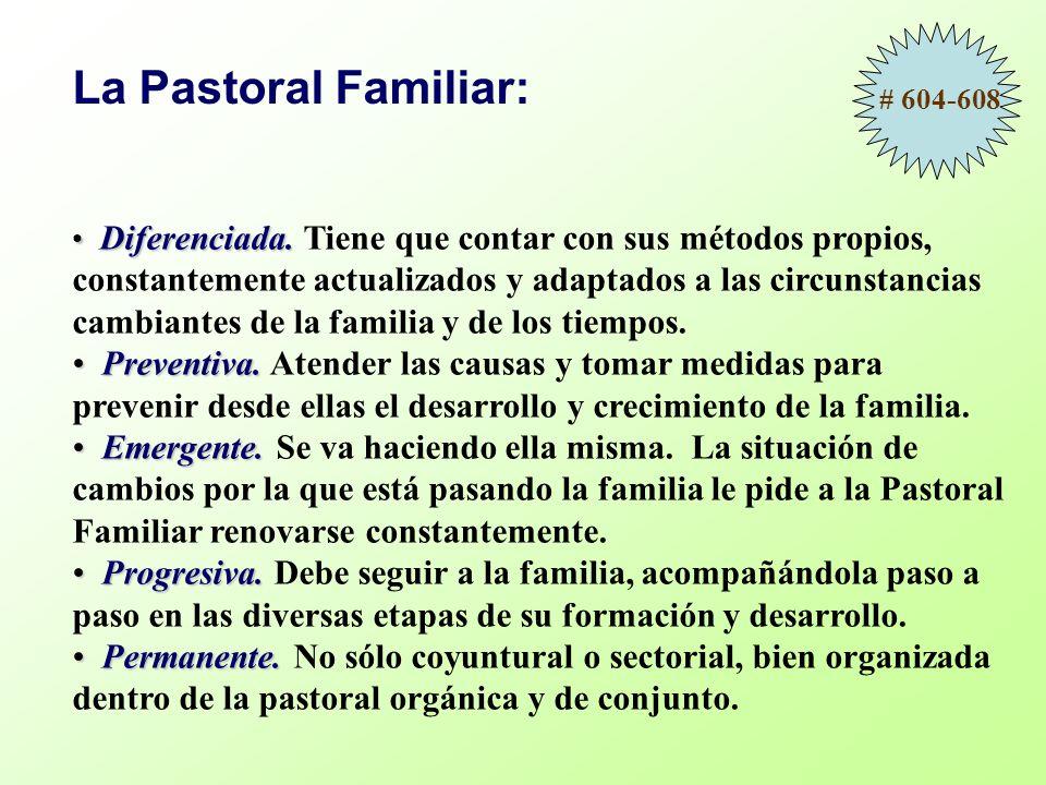 La Pastoral Familiar: # 604-608.