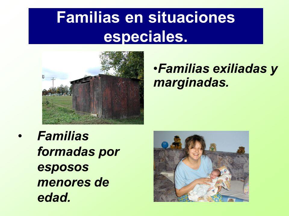 Familias en situaciones especiales.
