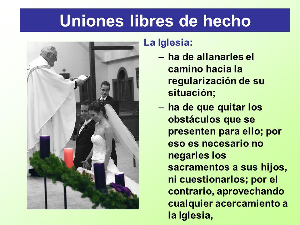 Uniones libres de hecho
