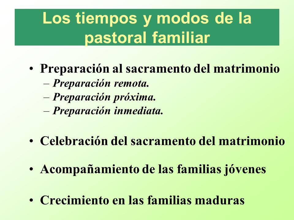 Los tiempos y modos de la pastoral familiar