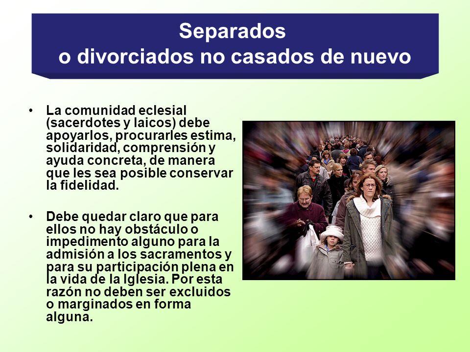 o divorciados no casados de nuevo