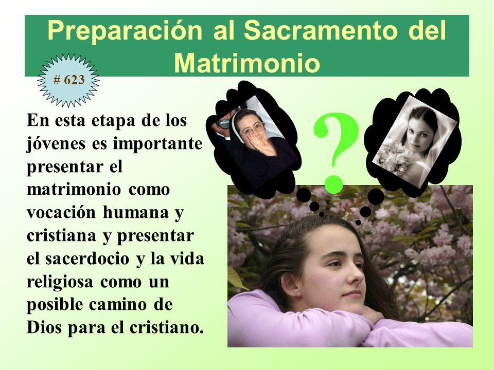 Preparación al Sacramento del Matrimonio