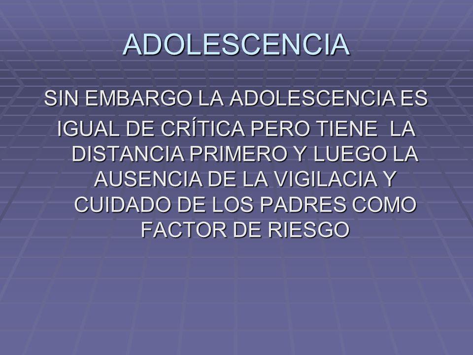 SIN EMBARGO LA ADOLESCENCIA ES