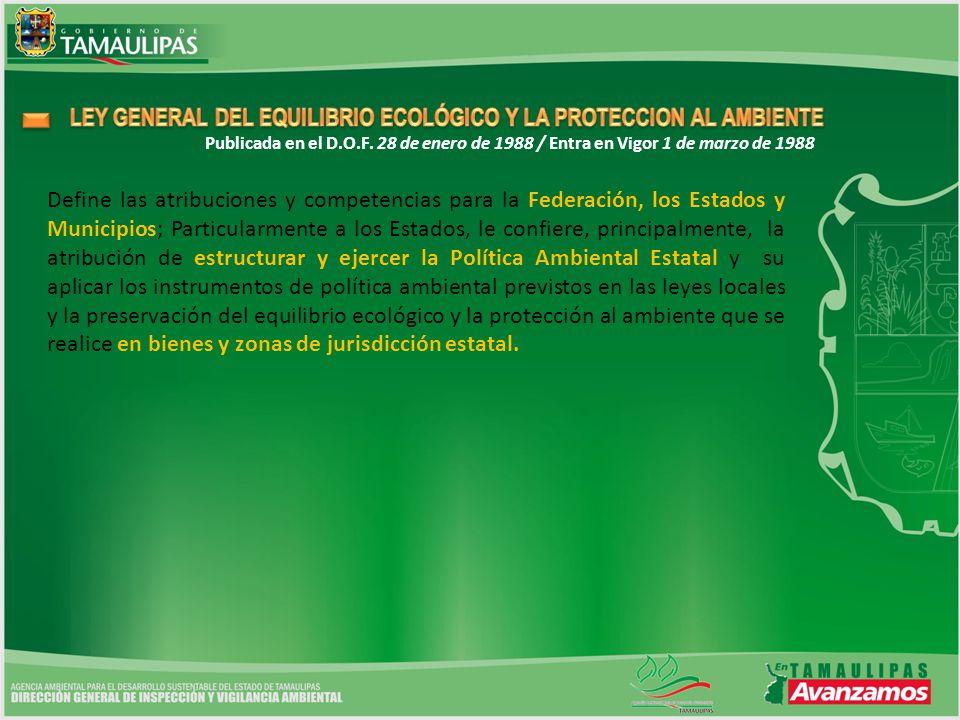 LEY GENERAL DEL EQUILIBRIO ECOLÓGICO Y LA PROTECCION AL AMBIENTE