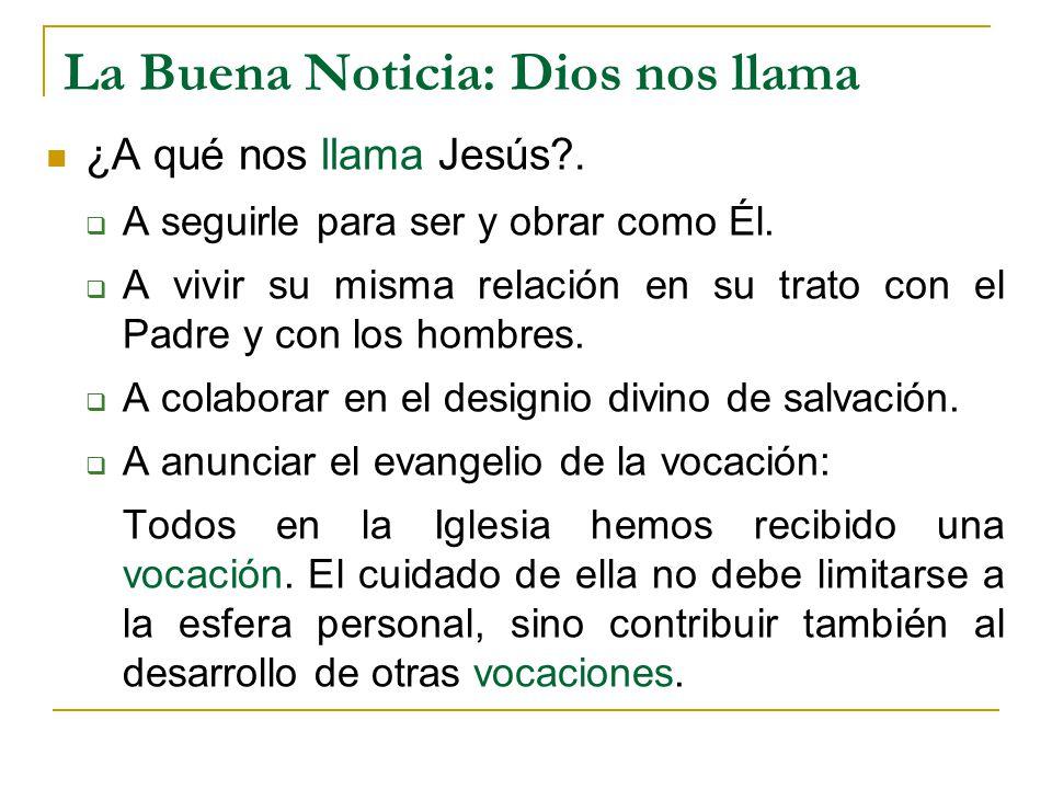 La Buena Noticia: Dios nos llama