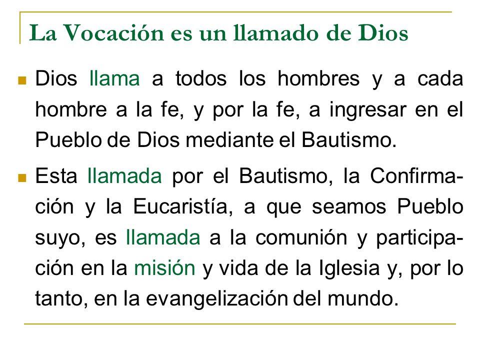 La Vocación es un llamado de Dios