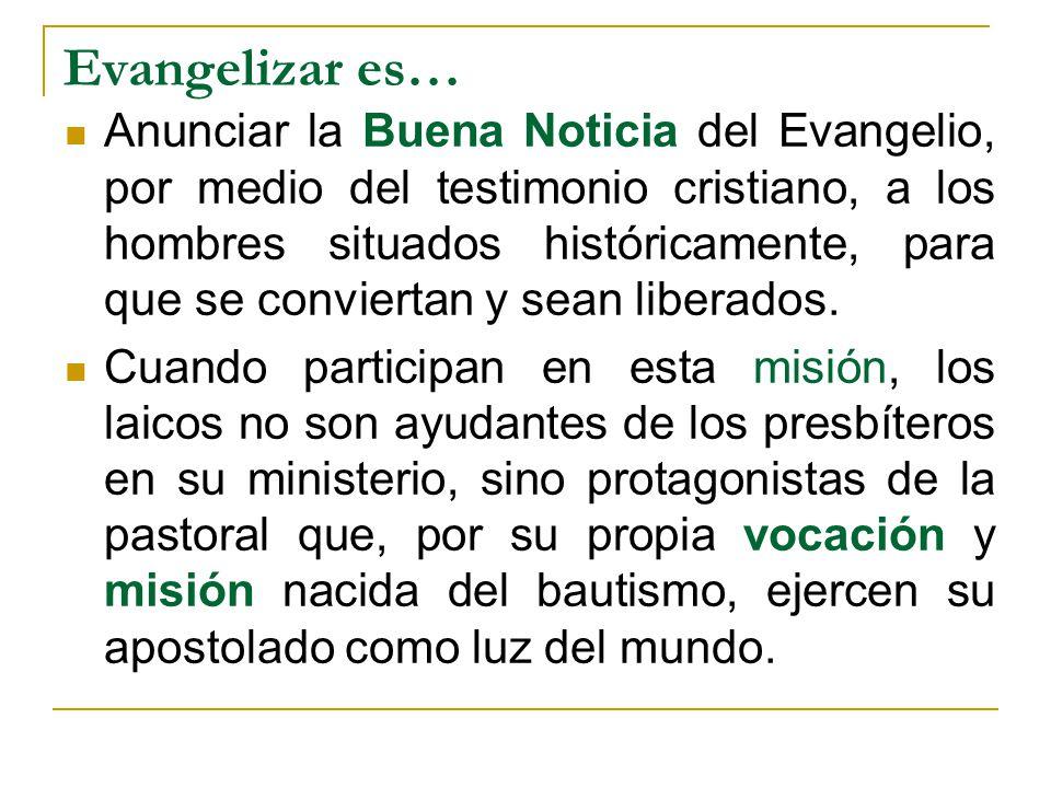 Evangelizar es…