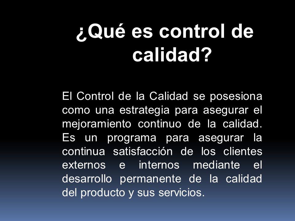 ¿Qué es control de calidad