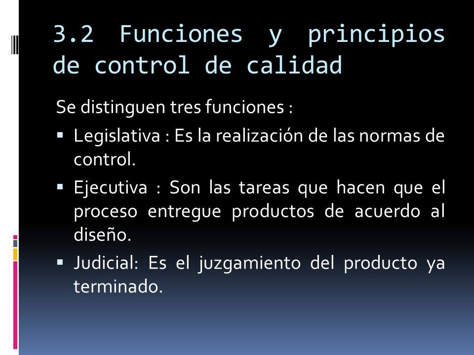 3.2 Funciones y principios de control de calidad