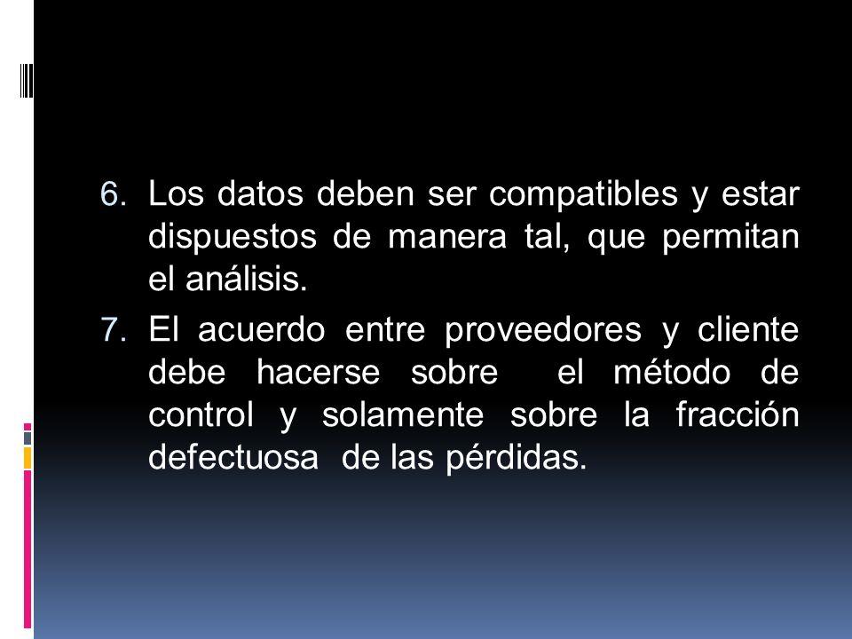 Los datos deben ser compatibles y estar dispuestos de manera tal, que permitan el análisis.