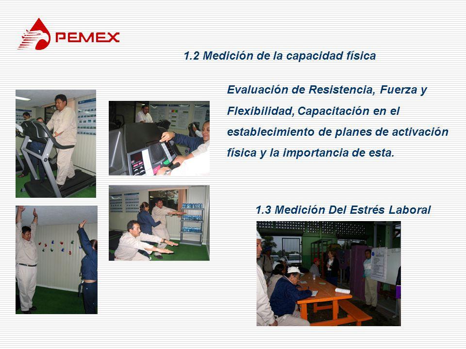 1.2 Medición de la capacidad física 1.3 Medición Del Estrés Laboral