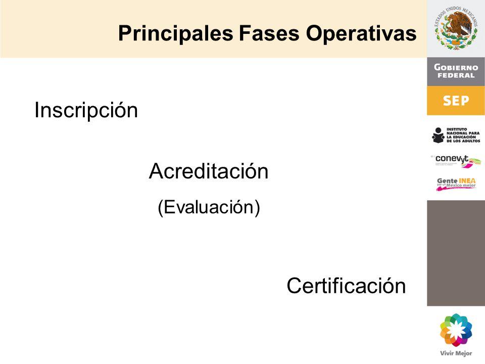 Principales Fases Operativas