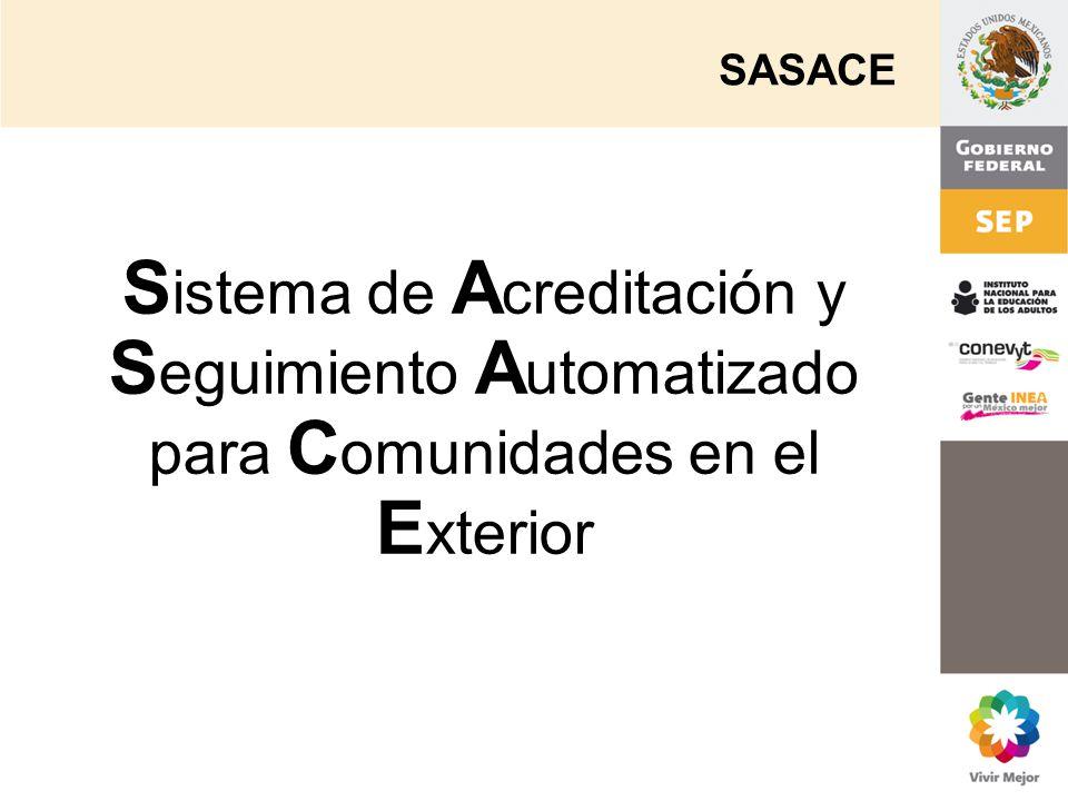 SASACE Sistema de Acreditación y Seguimiento Automatizado para Comunidades en el Exterior