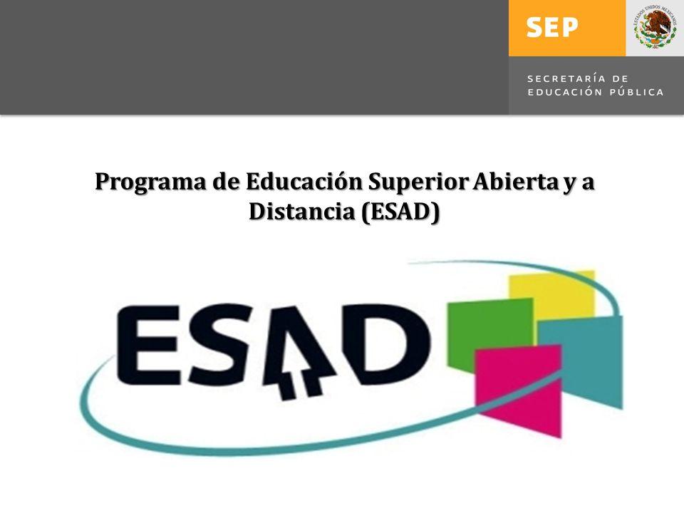 Programa de Educación Superior Abierta y a Distancia (ESAD)