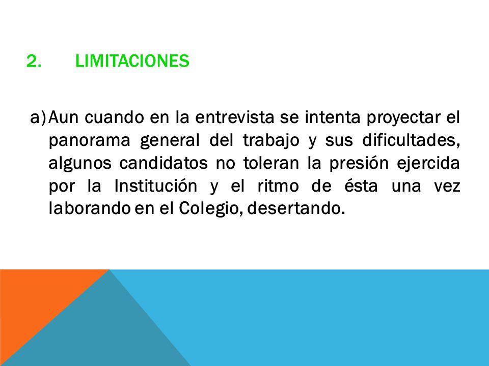 2. Limitaciones