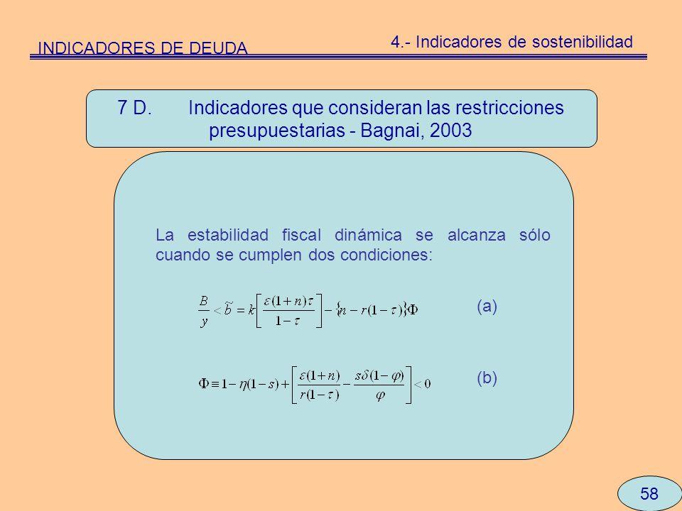 4.- Indicadores de sostenibilidad