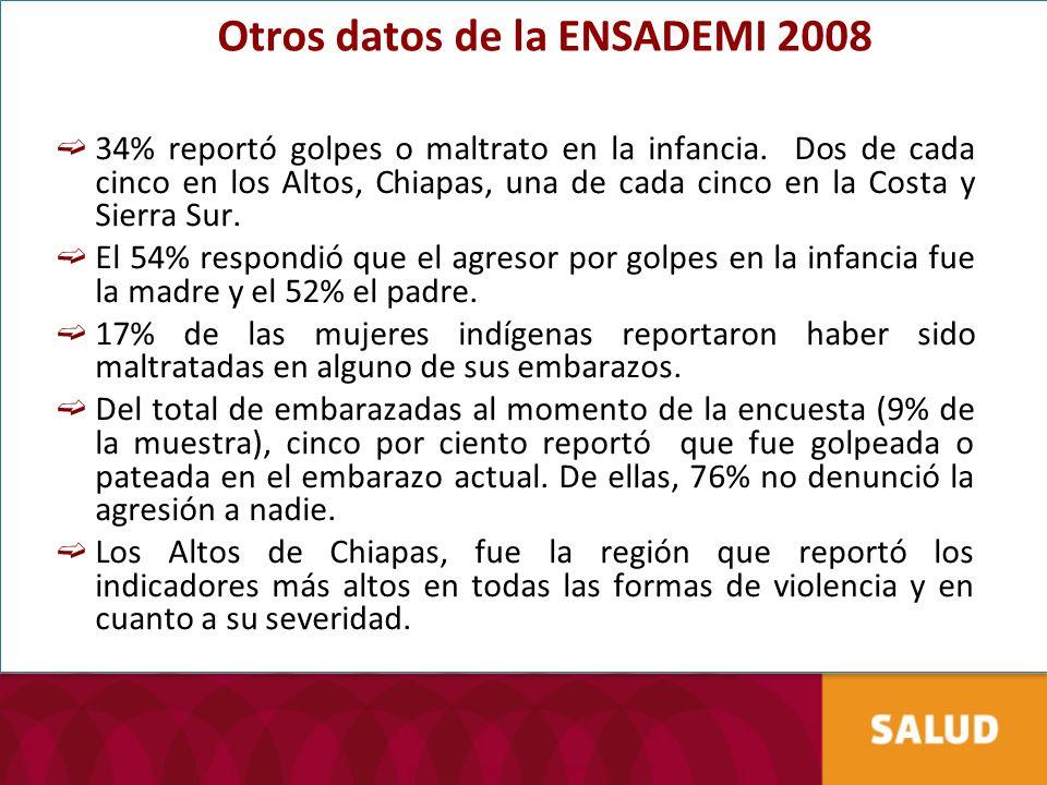 Otros datos de la ENSADEMI 2008