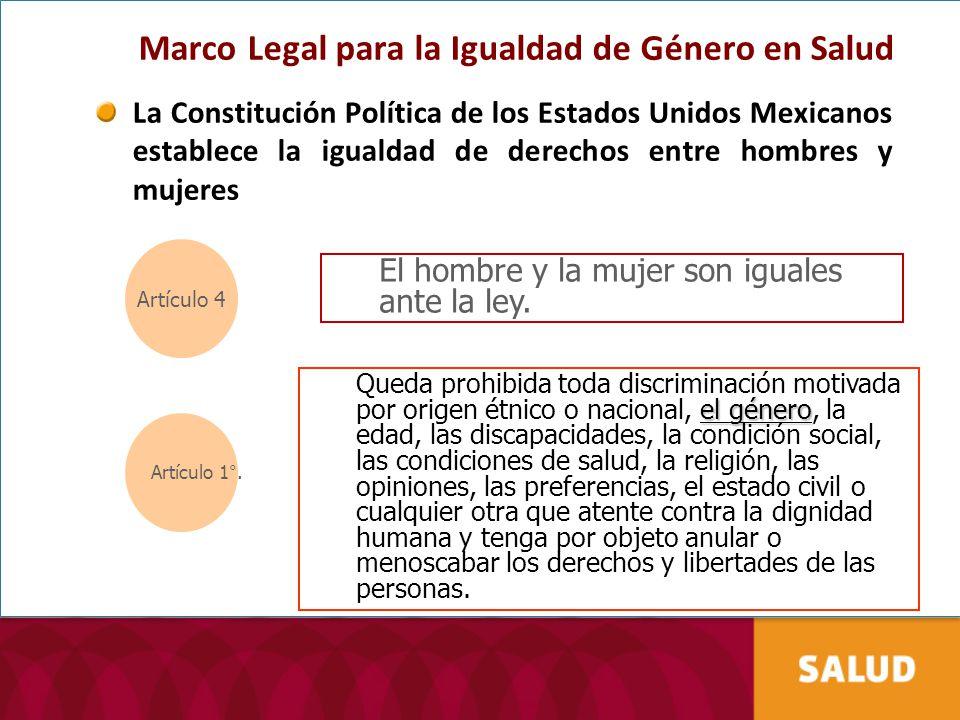 Marco Legal para la Igualdad de Género en Salud