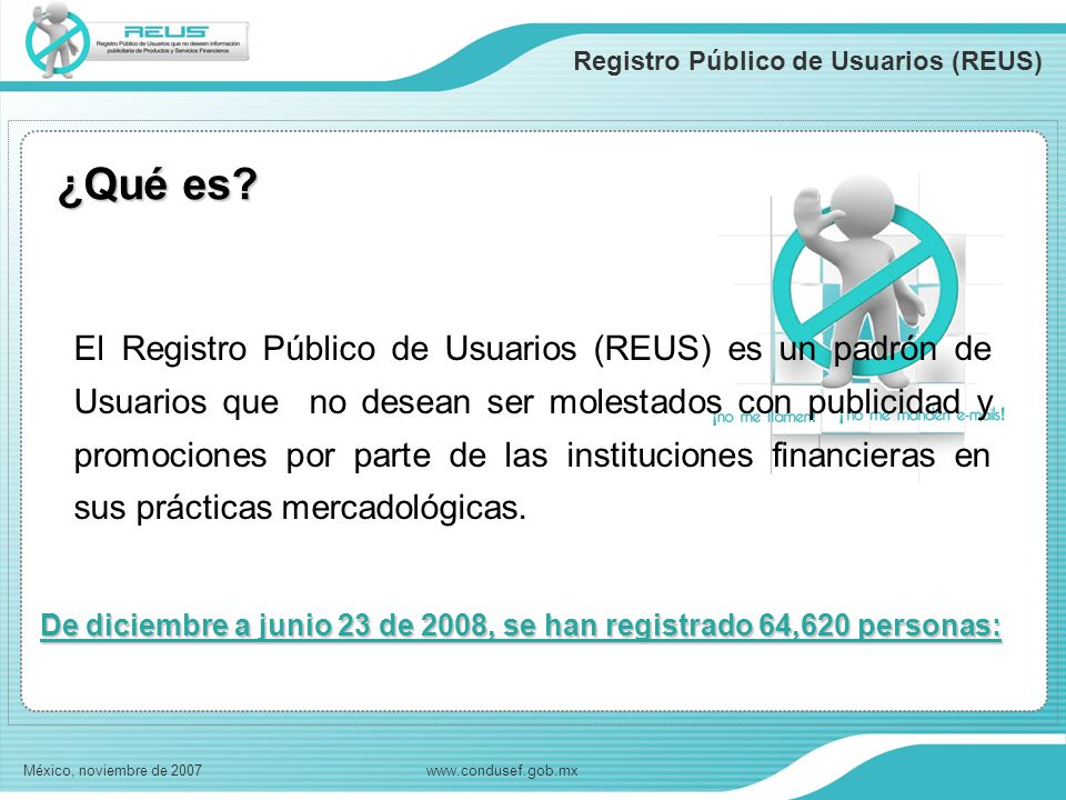 Registro Público de Usuarios (REUS)