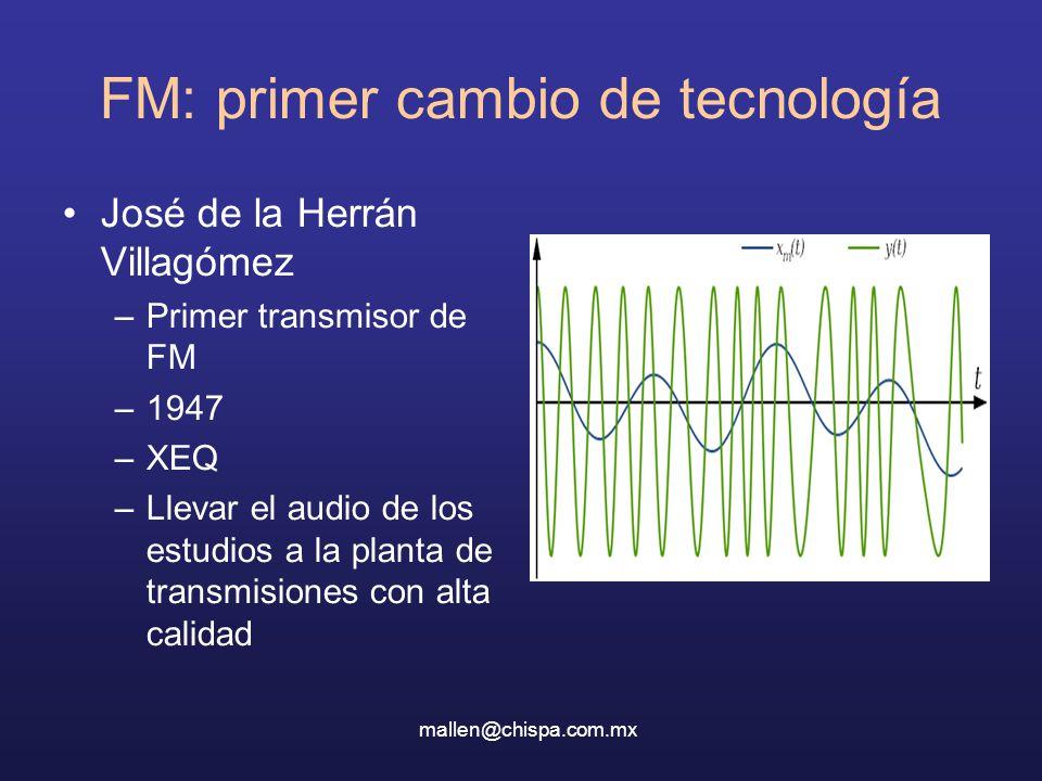 FM: primer cambio de tecnología