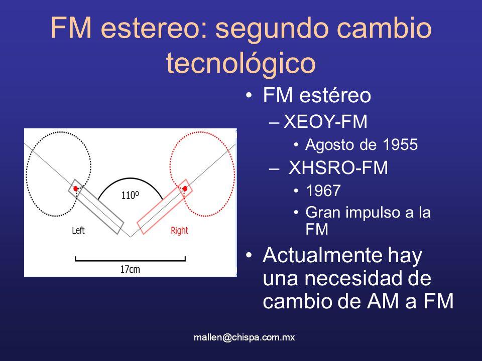 FM estereo: segundo cambio tecnológico