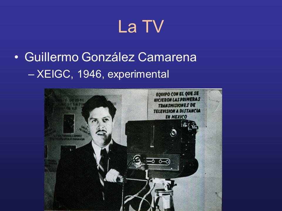 La TV Guillermo González Camarena XEIGC, 1946, experimental