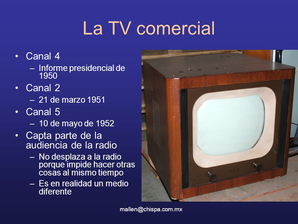 La TV comercial Canal 4 Canal 2 Canal 5