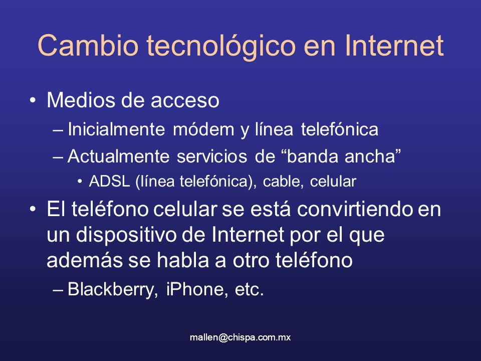 Cambio tecnológico en Internet