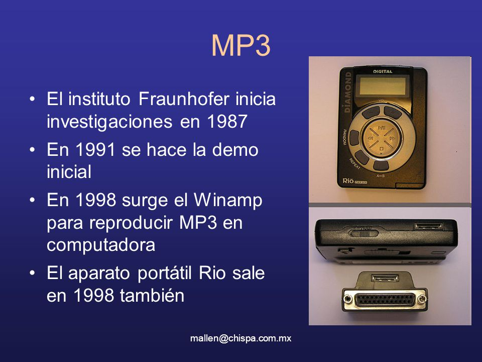MP3 El instituto Fraunhofer inicia investigaciones en 1987