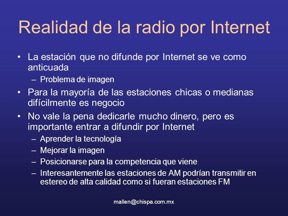 Realidad de la radio por Internet
