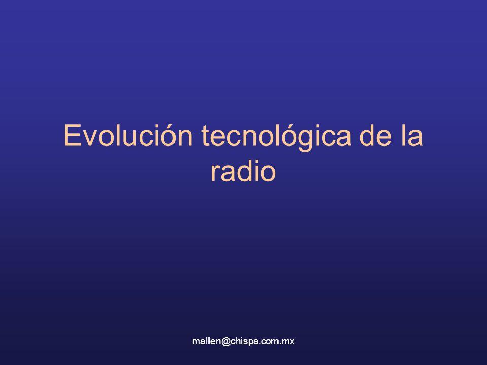 Evolución tecnológica de la radio