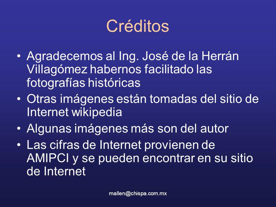Créditos Agradecemos al Ing. José de la Herrán Villagómez habernos facilitado las fotografías históricas.