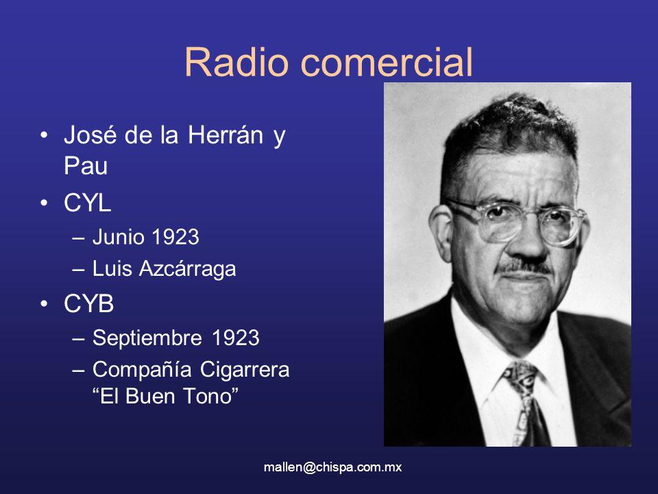 Radio comercial José de la Herrán y Pau CYL CYB Junio 1923