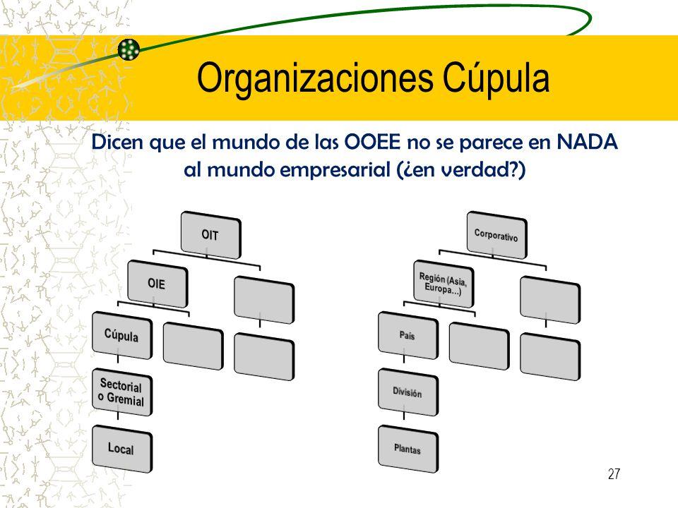 Organizaciones Cúpula