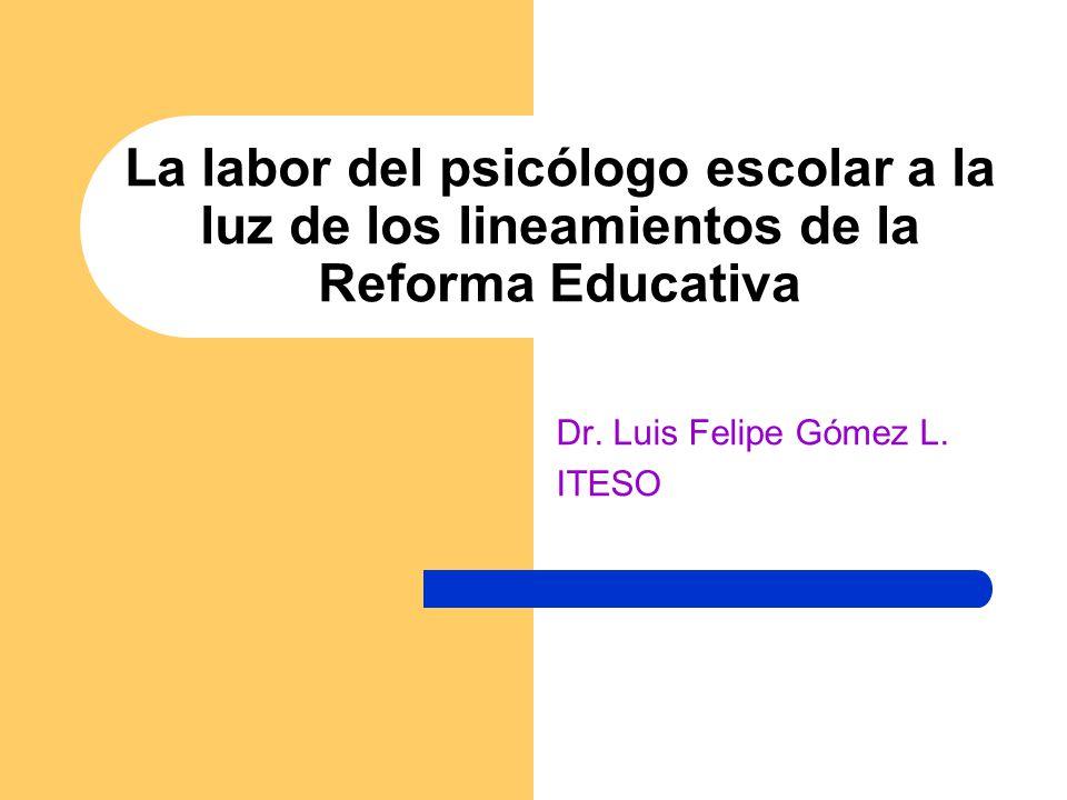 Dr. Luis Felipe Gómez L. ITESO