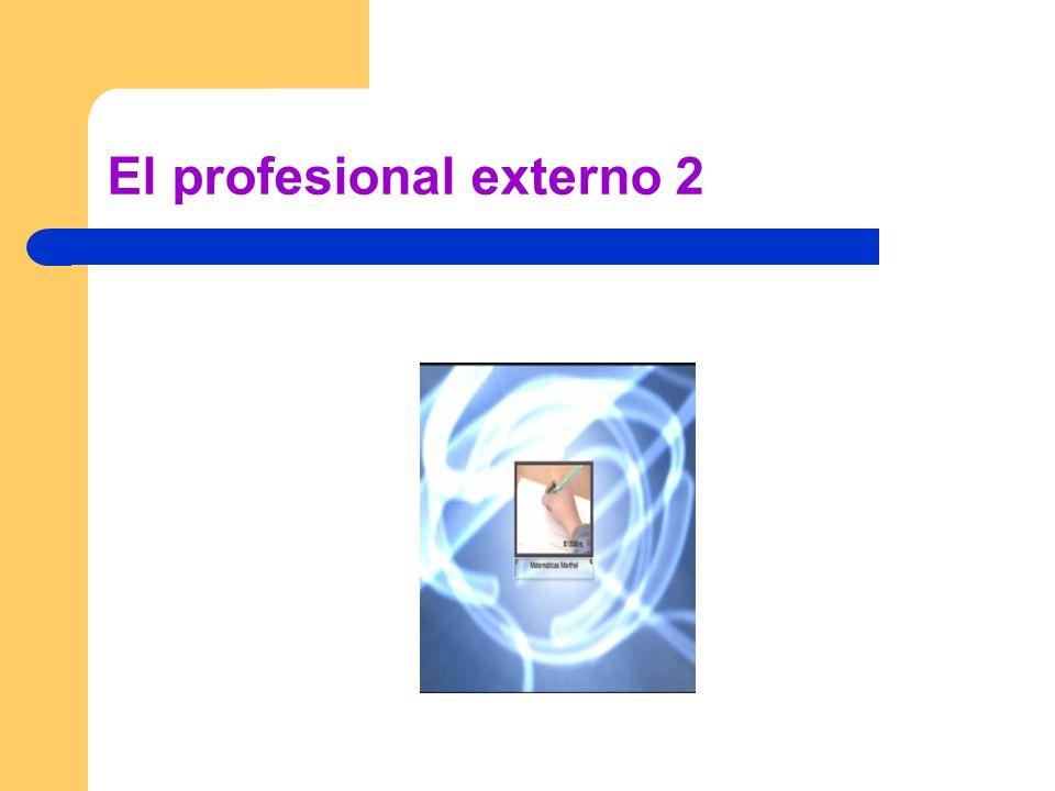 El profesional externo 2