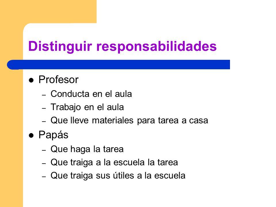 Distinguir responsabilidades