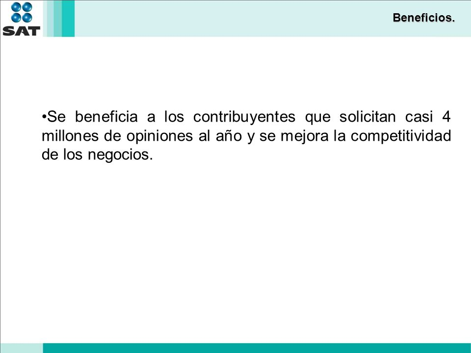Beneficios.