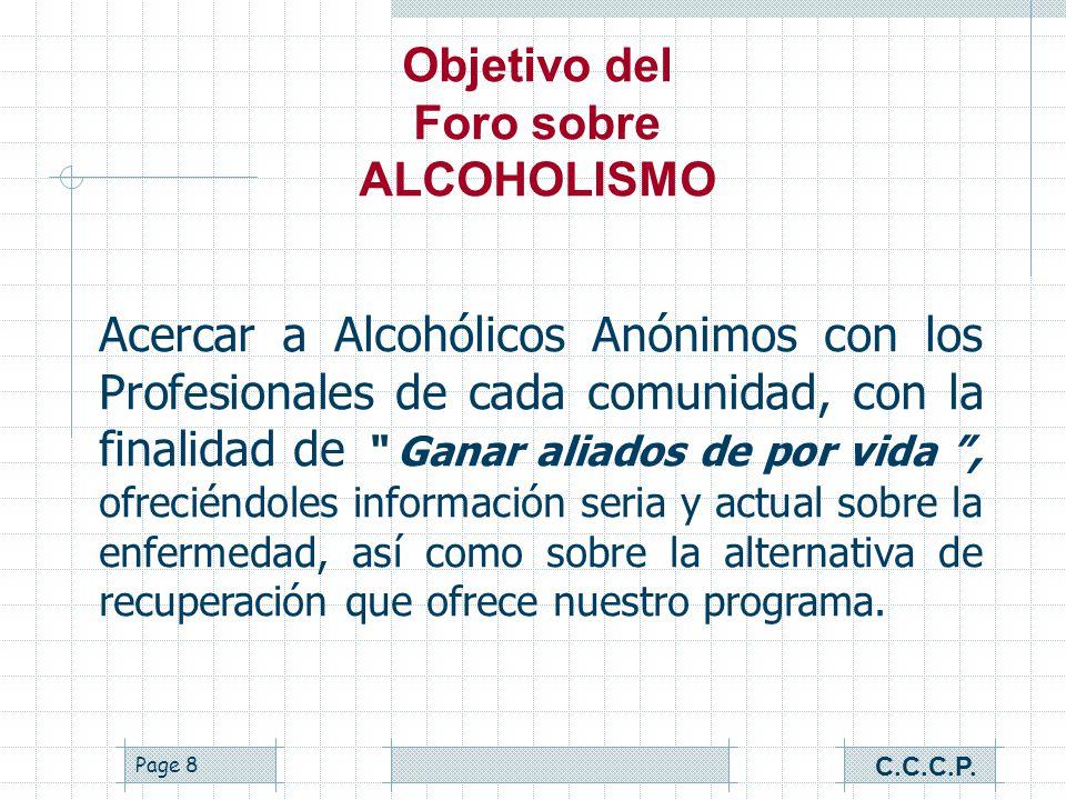 Foro sobre ALCOHOLISMO