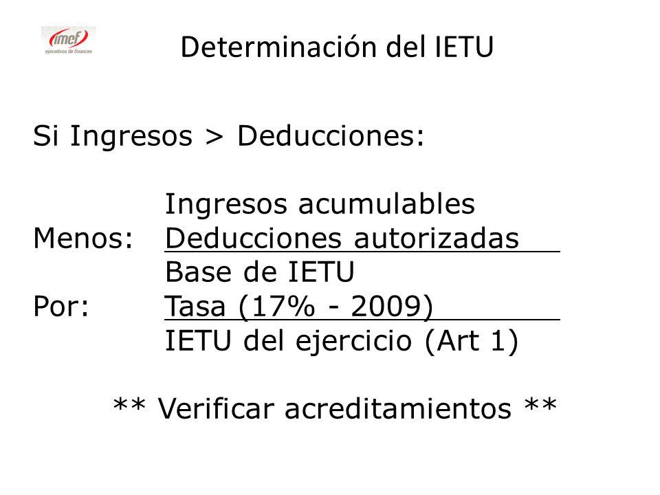 Determinación del IETU