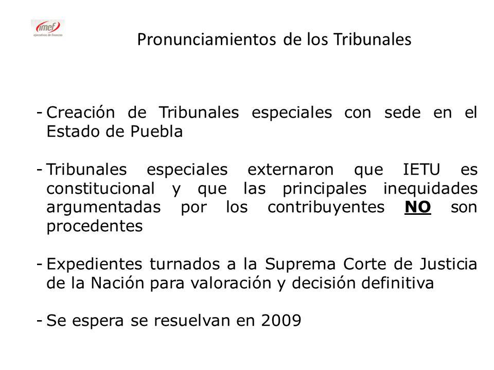 Pronunciamientos de los Tribunales