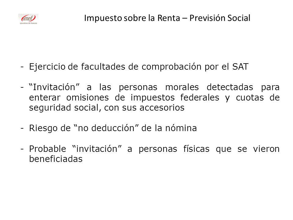 Impuesto sobre la Renta – Previsión Social