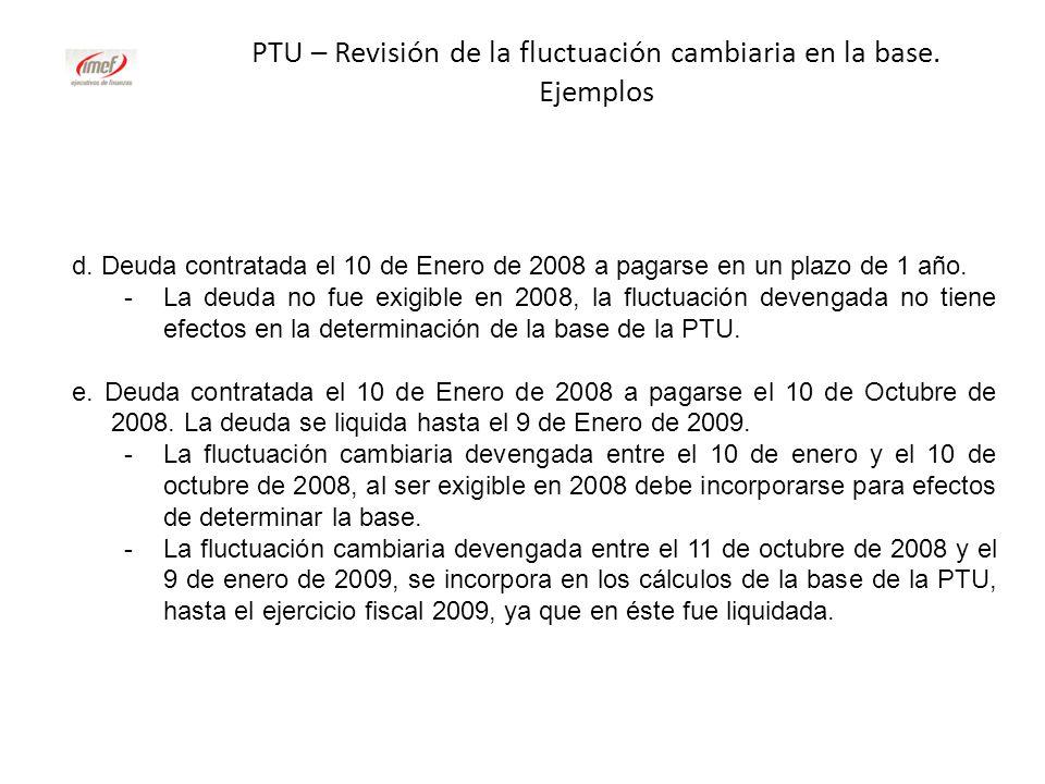 PTU – Revisión de la fluctuación cambiaria en la base. Ejemplos
