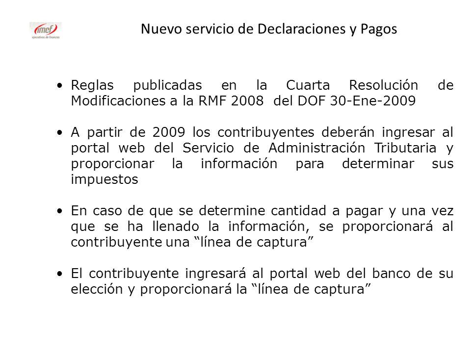 Nuevo servicio de Declaraciones y Pagos