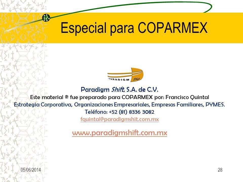 Especial para COPARMEX