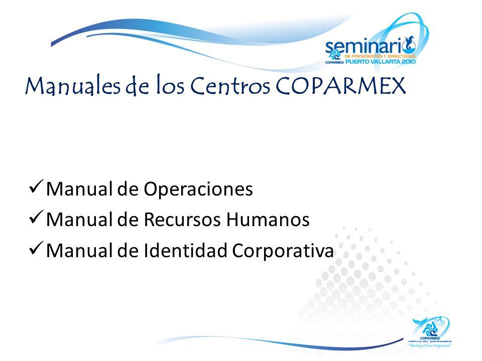 Manuales de los Centros COPARMEX