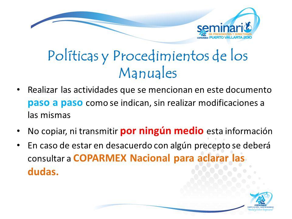 Políticas y Procedimientos de los Manuales
