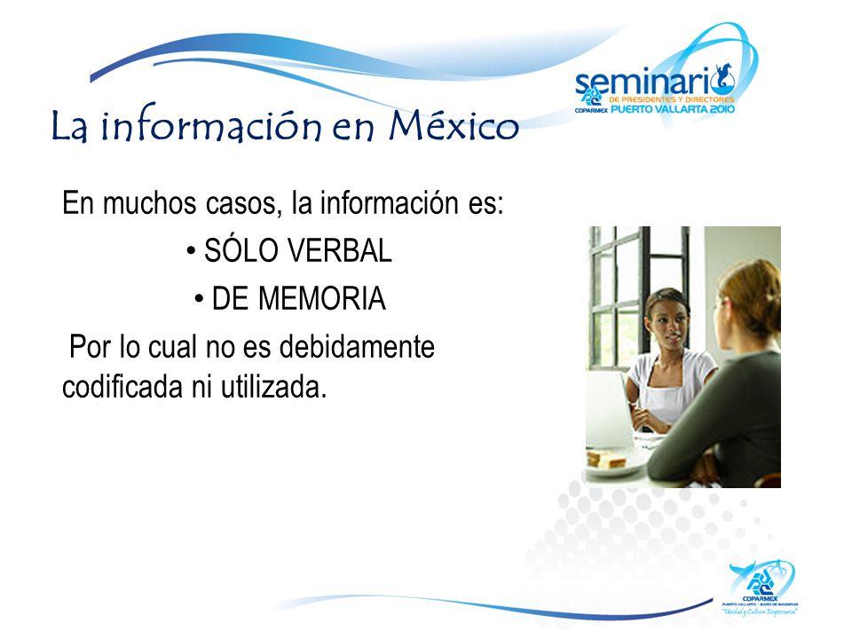 La información en México
